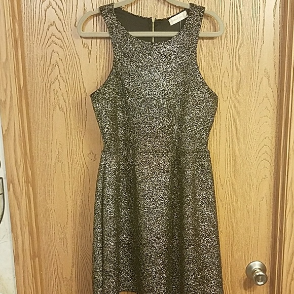 b434c8e23ea NWT Altar d State Dipped In Gold Skater Dress